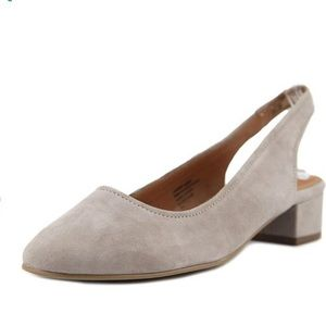 SEYCHELLES | electric suede slingback 9.5